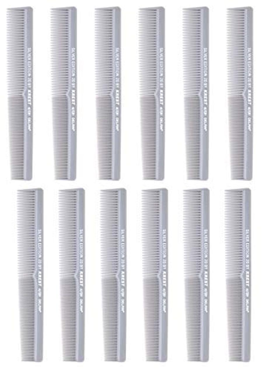 時間盗賊リサイクルする7 In. Barber Comb.?Thermal Combs. Silver Edition All Purpose Styler Hair Cutting Comb #20. 1 Dz. [並行輸入品]