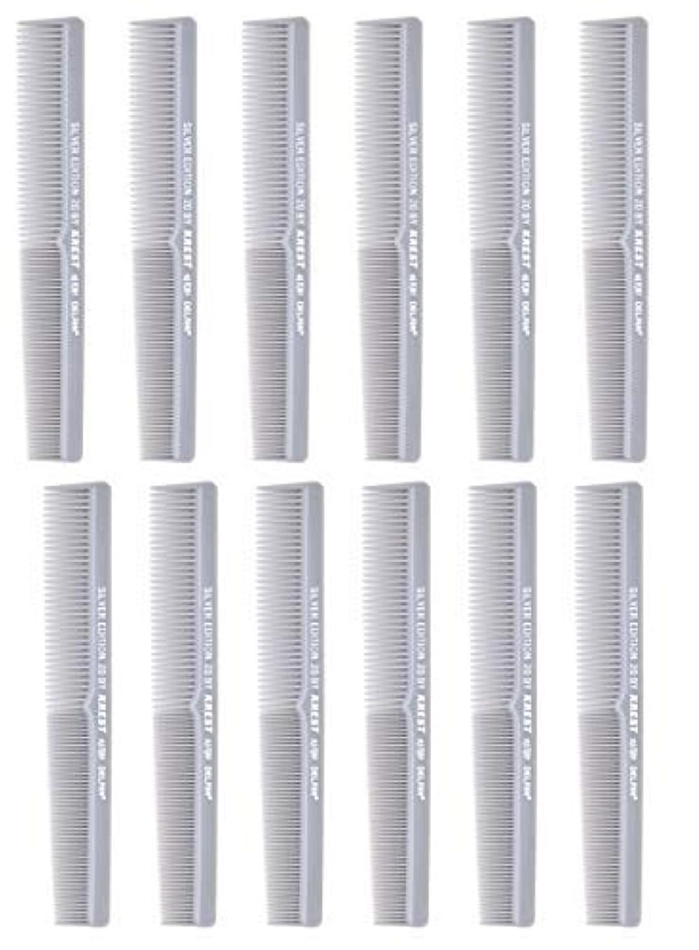 バックアップどうしたの確かな7 In. Barber Comb.?Thermal Combs. Silver Edition All Purpose Styler Hair Cutting Comb #20. 1 Dz. [並行輸入品]