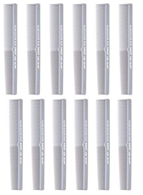 モール遺体安置所しがみつく7 In. Barber Comb.?Thermal Combs. Silver Edition All Purpose Styler Hair Cutting Comb #20. 1 Dz. [並行輸入品]