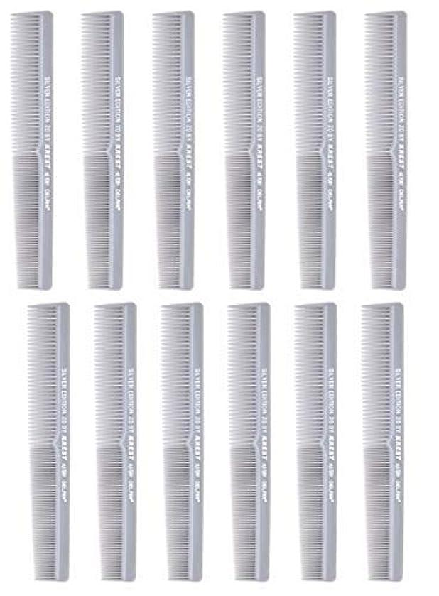 刑務所傾く好色な7 In. Barber Comb.?Thermal Combs. Silver Edition All Purpose Styler Hair Cutting Comb #20. 1 Dz. [並行輸入品]