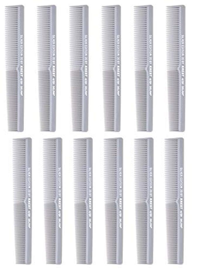 借りているゲート好色な7 In. Barber Comb.?Thermal Combs. Silver Edition All Purpose Styler Hair Cutting Comb #20. 1 Dz. [並行輸入品]