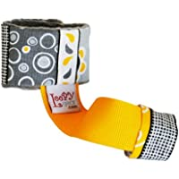 Loopy Gear Baby Rattle Holder ~ Choose Pattern (Golden Grey Goodness) by Loopy Gear