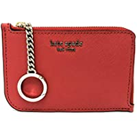 Kate Spade Cameron Medium L-Zip Card Holder Key Ring Hot Chili