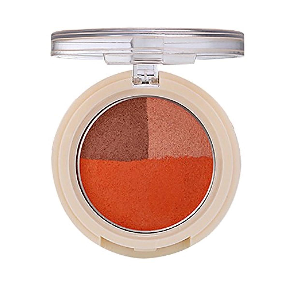 毎週リンク毒液Lazayyii 3色アイシャドウ チーク アイシャドウパレット Eye Shadow グリッターアイシャドウ パール マットマット高発色 透明感 保湿成分 暖色系 (03#)