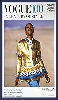 ポスター ヴォーグ Naomi Campbell/Vogue Exhibition by Patrick Demarchelier 額装品 ウッドベーシックフレーム(ブルー)