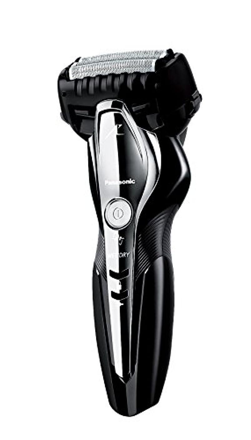 変形雑品写真を描くパナソニック ラムダッシュ メンズシェーバー 3枚刃 お風呂剃り可 黒 ES-ST2Q-K