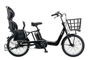 Panasonic(パナソニック) 2017年モデル ギュットアニーズDX(Gyutto ANNYS DX) カラー:マットナイト 20インチ BE-ELMA032-B チャイルドシート付き電動アシスト自転車 専用充電器付
