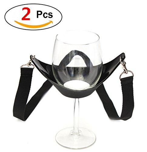 amzmonnsuta 2PCS ポータブル式 ワイングラス...