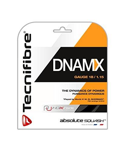 テクニファイバー(Tecnifibre) スカッシュ用ストリング、ゲージ1.15mm DNAMX 1.15 ブラック(3個セット) …