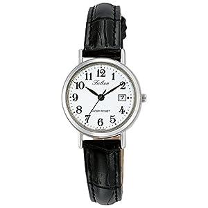 [シチズン キューアンドキュー]CITIZEN Q&Q 腕時計 Falcon ファルコン アナログ 革ベルト 日付 表示 ホワイト D023-304 レディース