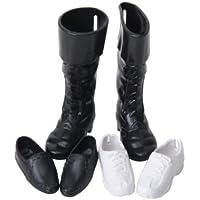 Lovoski ハンサム 王子用 ペア靴 ブーツ シューズ ファッション アクセサリー 12インチ アクションフィギュア  ドール適用