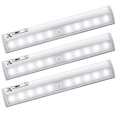 キャビネットライト SOLMORE 人感センサーライト クローゼットライト SMD2835 85LM スイッチなし ワイヤレス 乾電池式 1W 防災 ロッカー 廊下 階段 キャビネット クロゼット 室内照明 昼光色 3個セット