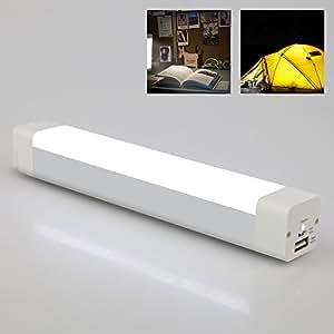 DMY-CO LEDライト 多機能 懐中電灯 防災灯 充電式 連続照明6H 非常灯として使える 軽量 携帯やすい USBケーブル付き いろんな場面で活躍できる多機能ライト 電気スタンドなど(磁石のホルダーやケーブル付属)