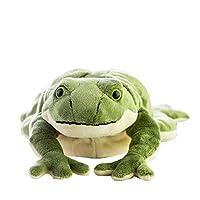 新しい面白いシミュレーションの動物のぬいぐるみのおもちゃ大きなぬいぐるみ漫画の緑の人形の枕の贈り物 HYBKY (Color : Green)