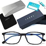 LACCL (ラクル) ブルーライトカット メガネ 超軽量 14グラム 伊達眼鏡 メンズ レディース クリアレンズ 度なし UV 90%以上 001
