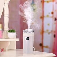 加湿器 Yumiki 300ML 空気浄化機 低騒音 空気清浄芳香剤 軽量で持ち運びやすい  アロマポット ストレス解消 睡眠促進 部屋 会社 ヨガなど各場所用 (ホワイト)