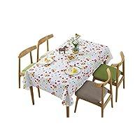 Tcaijing テーブルクロスポリ塩化ビニールのプラスチック印刷された花のテーブルのマットの防水焼け防止油のサイズ9の任意台所レストラン党ピクニック屋内屋外の使用 (サイズ さいず : 120*120cm)