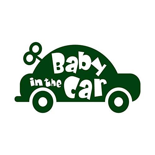 おもちゃの車 Baby in car カッティング ステッカ...