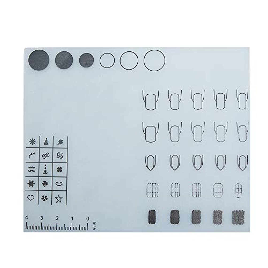 オゾン世界的に慰めDecdeal ネイルアートテーブルマット 折り畳み式パッド マニキュアクッション ミニ シリコーン ウォッシャブル ひじかけ マニキュアツール