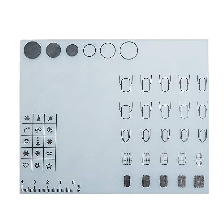 Decdeal ネイルアートテーブルマット 折り畳み式パッド マニキュアクッション ミニ シリコーン ウォッシャブル ひじかけ マニキュアツール