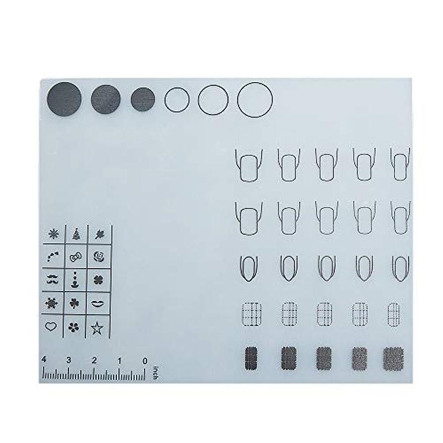 ねじれハック電気陽性Decdeal ネイルアートテーブルマット 折り畳み式パッド マニキュアクッション ミニ シリコーン ウォッシャブル ひじかけ マニキュアツール
