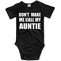 Girl Boy Clothing Don't Make ME Call My Auntie Bodysuit Romper Playsuit Outfits