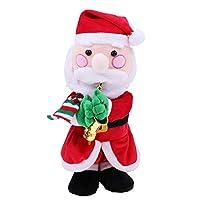 P Prettyia 歌う ぬいぐるみ人形 クリスマスギフト ホーム飾り 全4選択 - #1