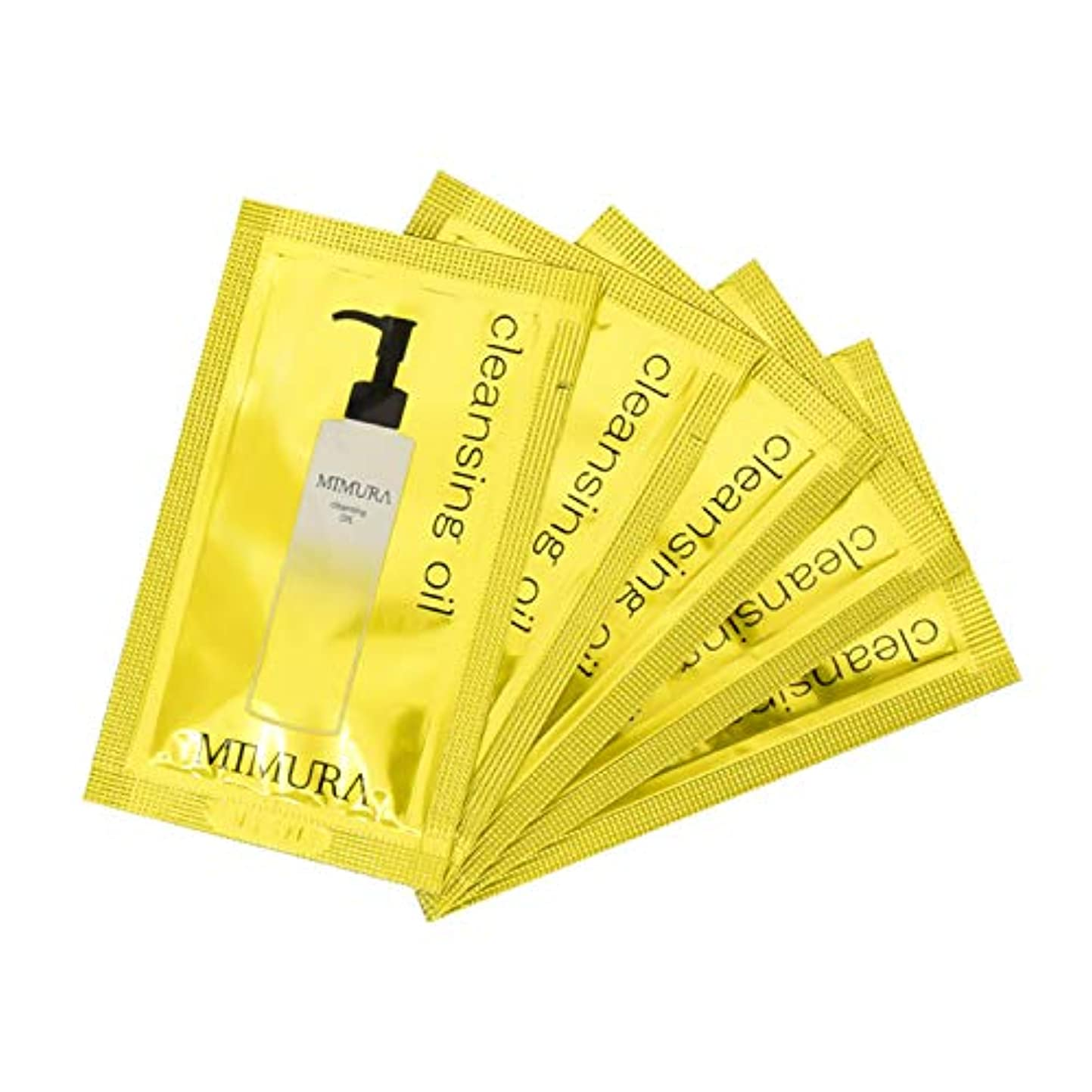 散髪象積極的にクレンジングオイル マツエク ok w洗顔不要 毛穴 メイク落とし ミムラ 試供品 5個入り ゆうパケット(ポスト投函)での発送となります。 MIMURA 日本製 ※おひとり様1点、1回限りとなります。