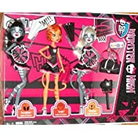 2013 EXCLUSIVE MONSTER HIGH DOLLS 3 PACK FEARLEADING WERECAT SISTERS PURRSEPHONE, TORALEI, MEOWLODY ドール 人形 おもちゃ (並行輸入)