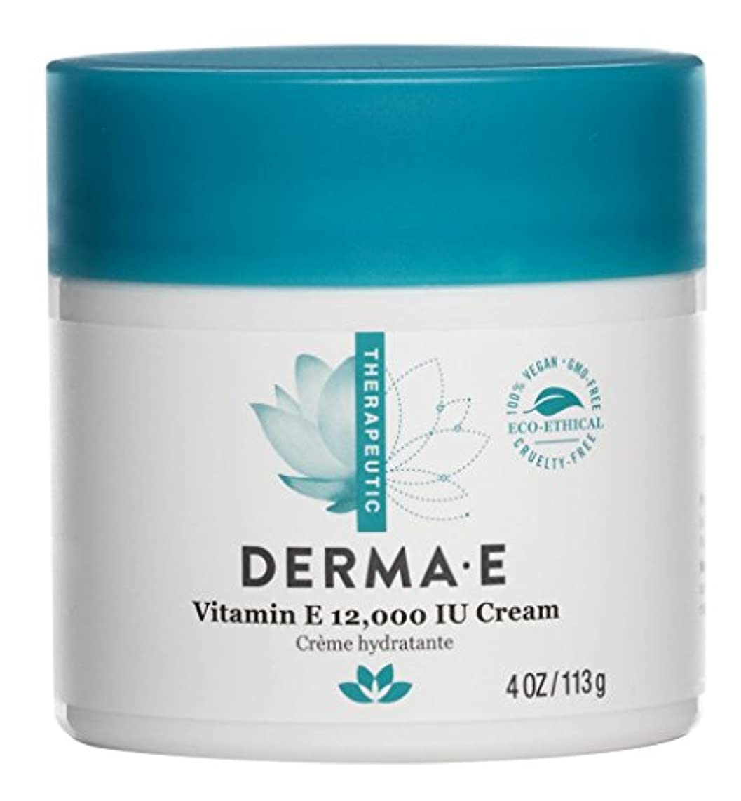 一過性銅臭いDerma E Therapeutic Vitamin E 12,000 IU Cream 113g/4oz並行輸入品