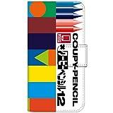 スマホケース 手帳型 エクスペリアz5カバー 8152-A. デザインA so-03h 手帳型ケース[Xperia Z5 Premium SO-03H] サクラクレパス 柄 クレヨン 柄 クーピー 柄 エクスペリア ゼット5