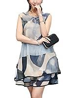 (シュガーポート) SUGAR PORT レディース ノースリーブ ワンピース シフォン ドレス SL096