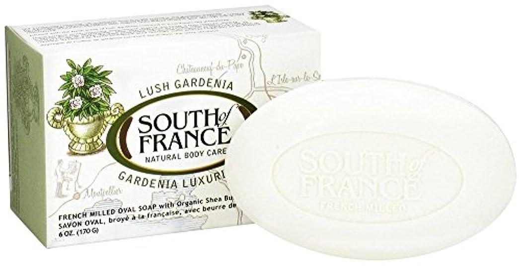テクニカルスポンジ規範海外直送品South Of France Soaps Milled Bar Soap Gardenia, 6 oz