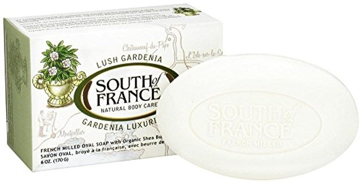 枝デッドフロー海外直送品South Of France Soaps Milled Bar Soap Gardenia, 6 oz
