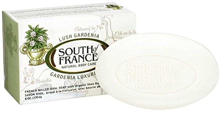 海外直送品South Of France Soaps Milled Bar Soap Gardenia, 6 oz