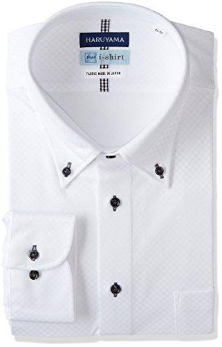 (はるやま) HARUYAMA i-shirt 完全ノーアイロン 長袖 ボタンダウンアイシャツ M151180100 01 ホワイト LL84(首回り43cm×裄丈84cm)