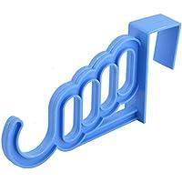 uxcell フックハンガー 家庭用 プラスチック ドア ワードローブ 衣類 コート タオル カバン ブルー