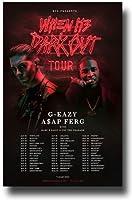 """g-eazyポスターコンサート–11x 17Promoの"""" When it 'sダークアウト""""ツアーW / Asap Ferg A $ AP"""