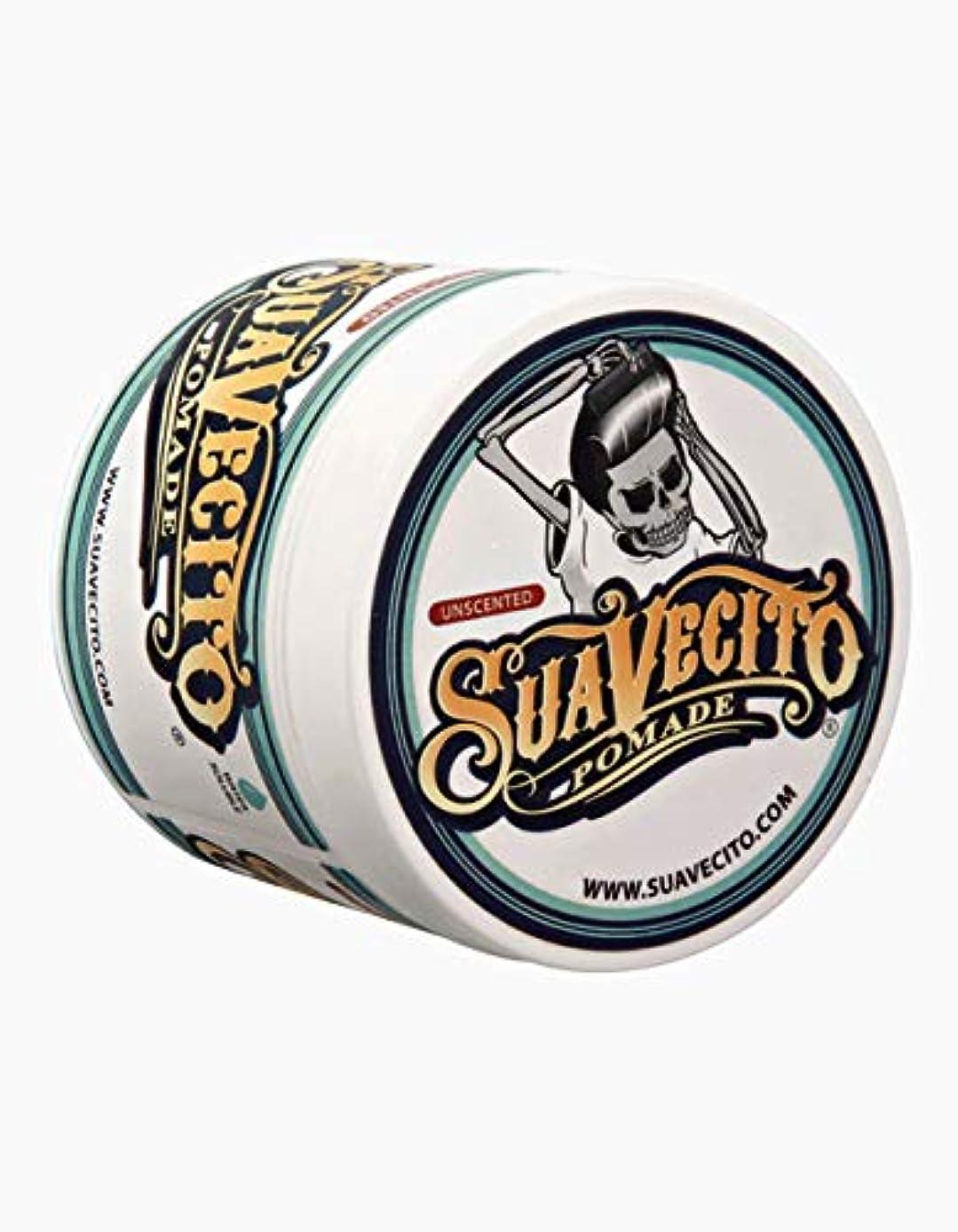 ノイズ調停する変数Suavecito 無香料Pomade-ミディアムは男性用スタイリングポマード(4オンス)をホールド 4オンス 元の