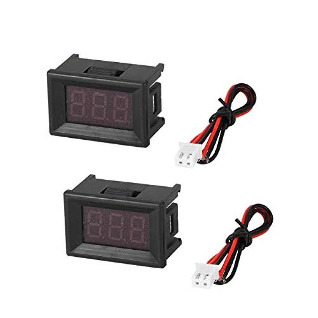 毛布メナジェリースペイン語2PCS 2.5-30V 0.36in 2線式LEDデジタル電圧計電圧計カーボルトテスター