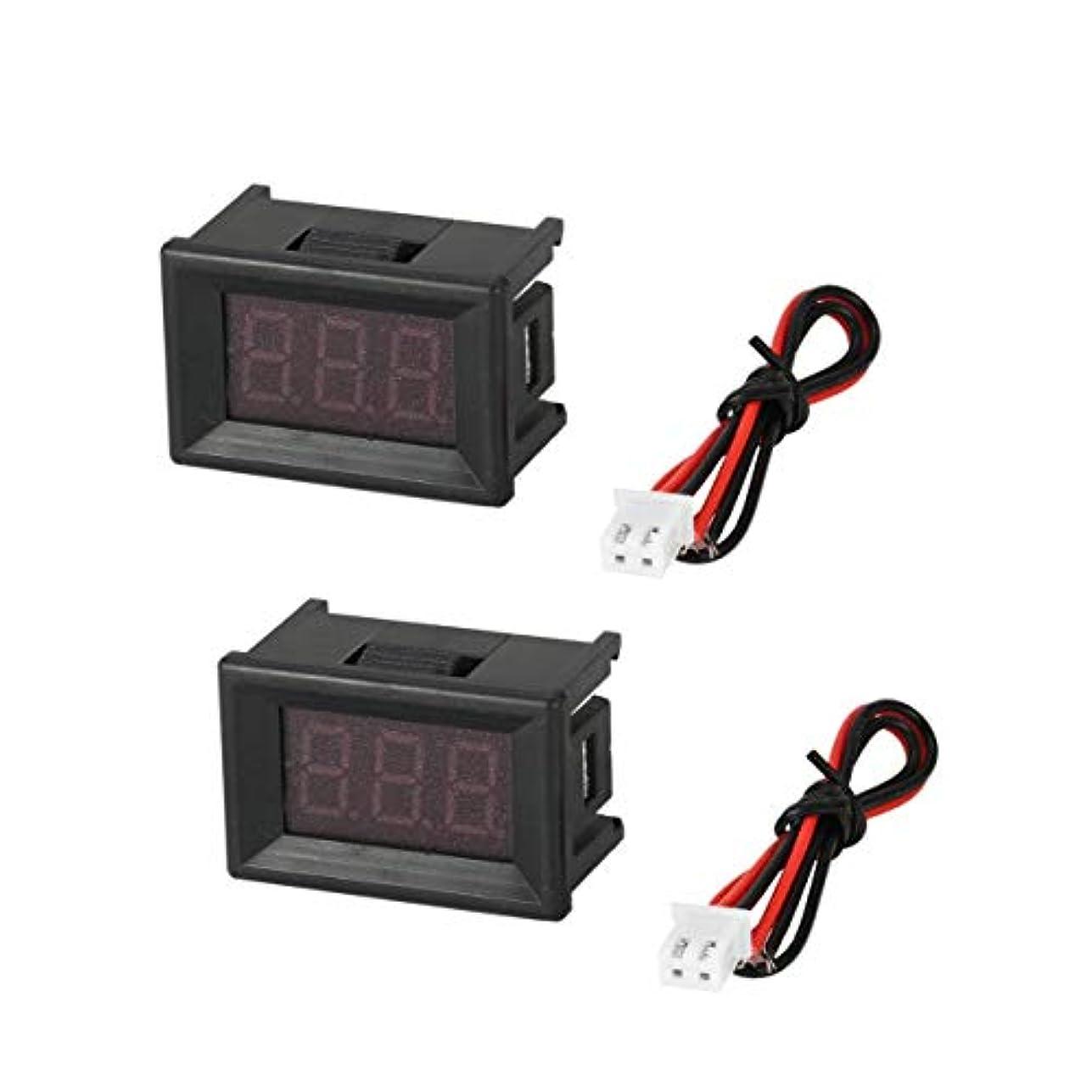 部族任意征服2PCS 2.5-30V 0.36in 2線式LEDデジタル電圧計電圧計カーボルトテスター