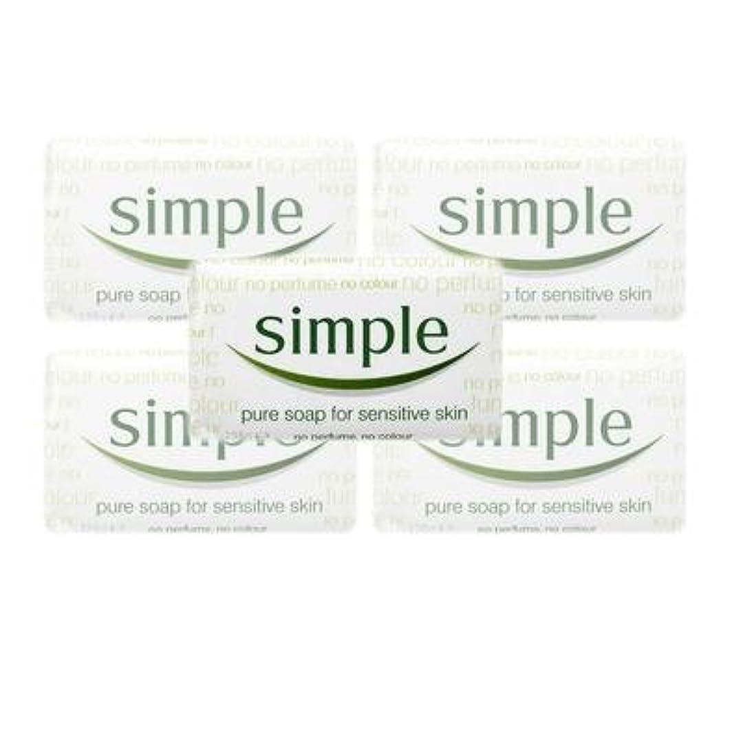 主に中古階層Simple Pure Soap ( 6 x 125 gr bar) by Simple