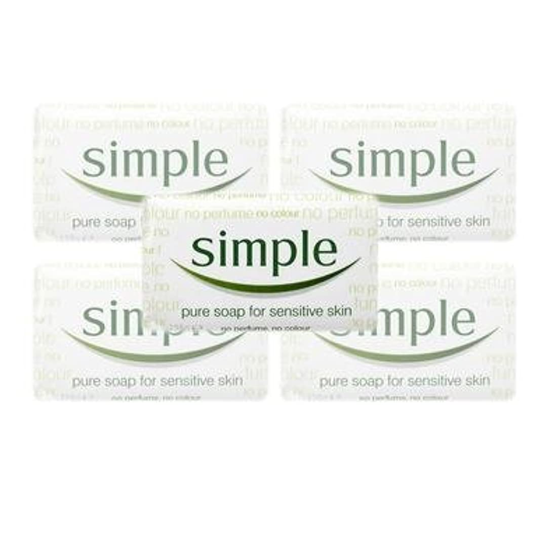 ジェット曲げる経験的Simple Pure Soap ( 6 x 125 gr bar) by Simple