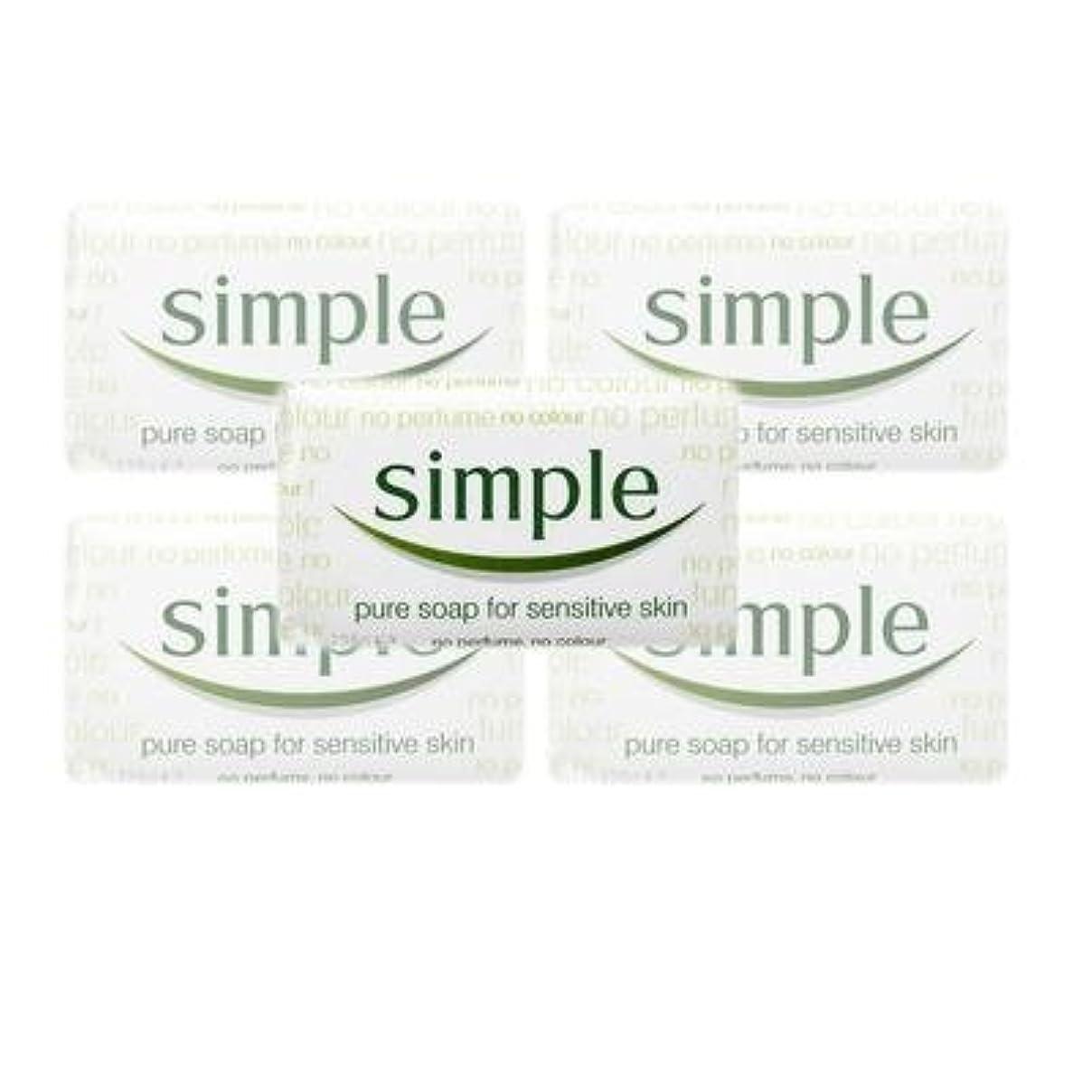 繊毛ティッシュ金銭的なSimple Pure Soap ( 6 x 125 gr bar) by Simple