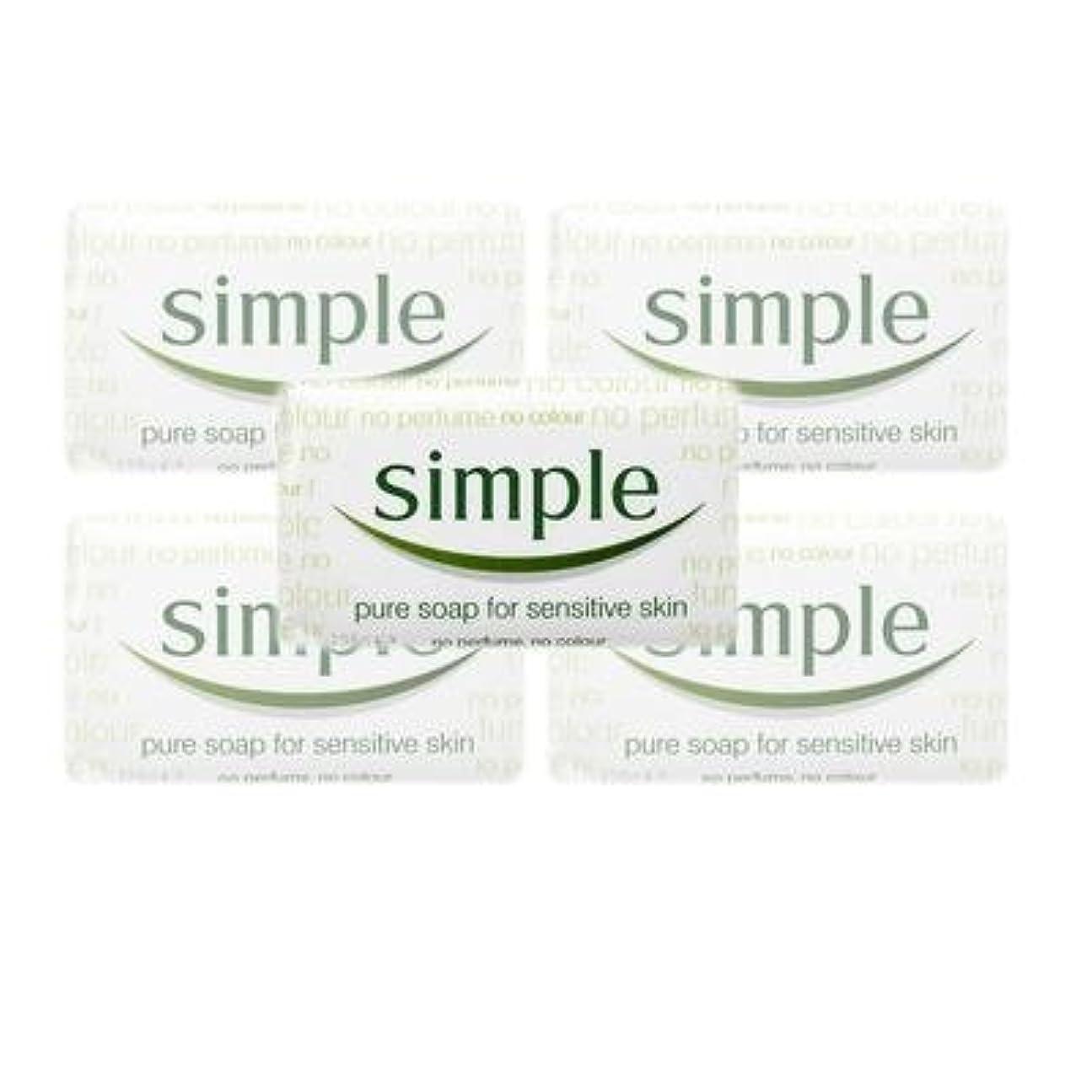 土器左彼女Simple Pure Soap ( 6 x 125 gr bar) by Simple