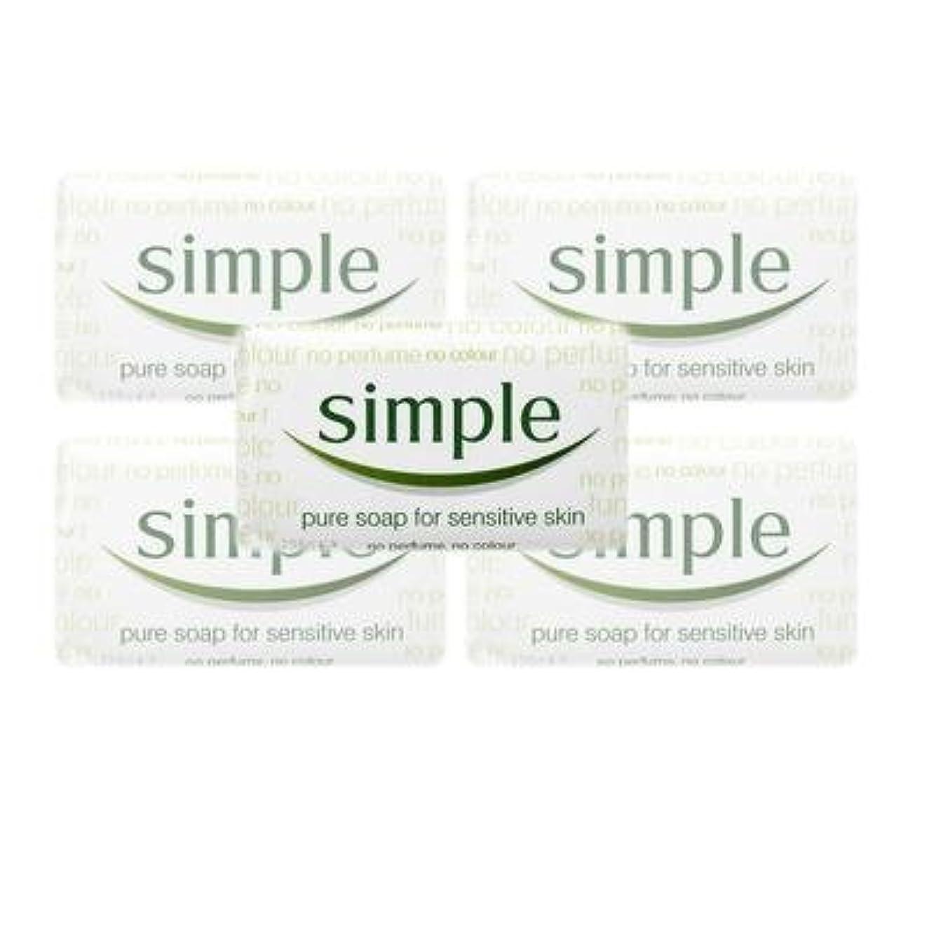 ルーム時刻表ラビリンスSimple Pure Soap ( 6 x 125 gr bar) by Simple