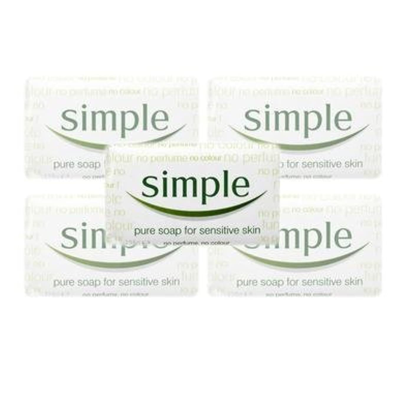 機関意味する高潔なSimple Pure Soap ( 6 x 125 gr bar) by Simple
