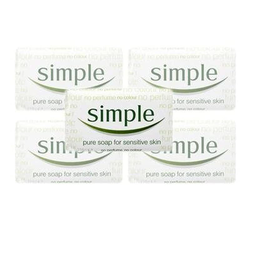 スパイラル誤六分儀Simple Pure Soap ( 6 x 125 gr bar) by Simple
