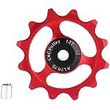 自転車リアディレイラープーリー 自転車 ジョッキーホイール リア ディレイラー 滑らかい 耐摩耗性 防錆 軽量 精密機械加工 高互換性 2色