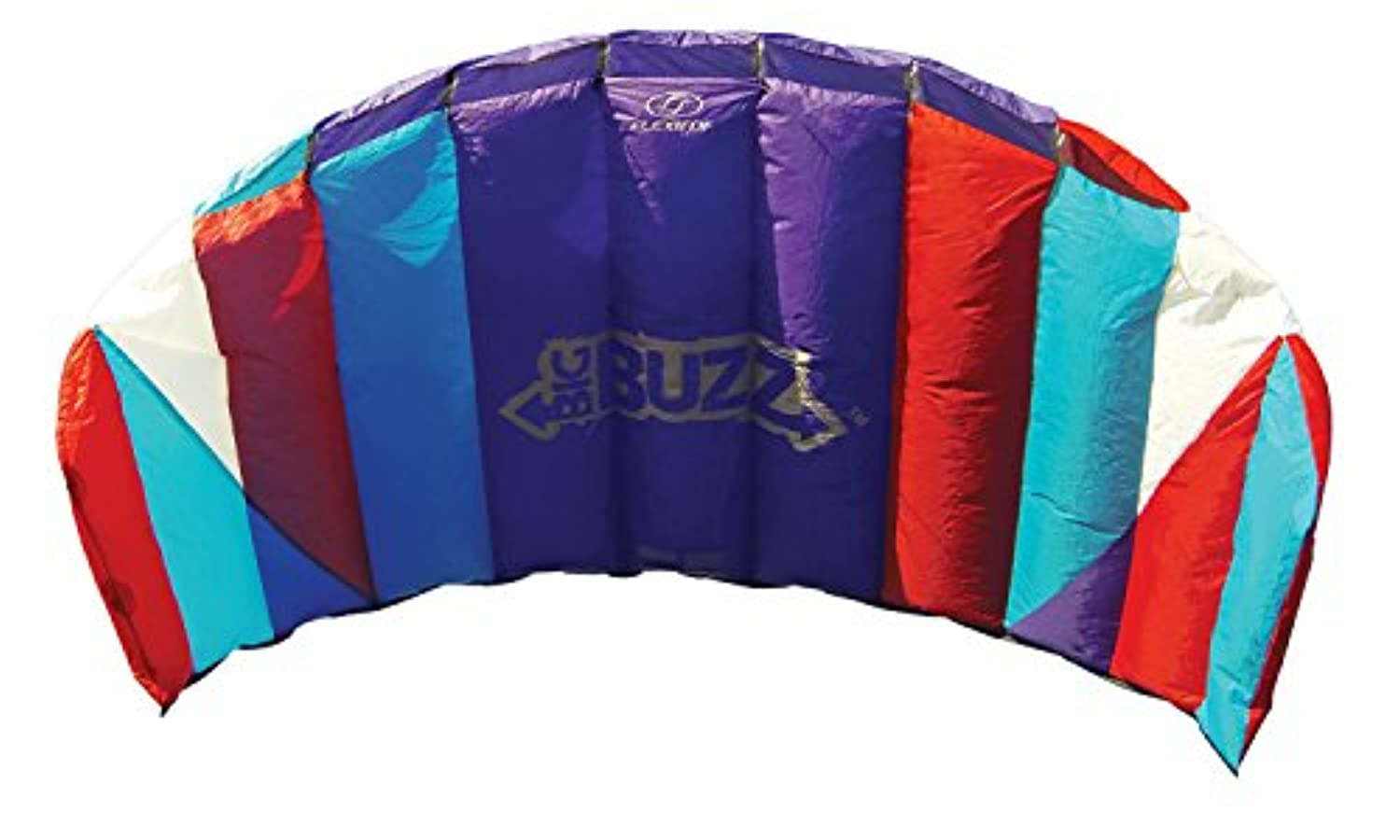 Flexifoil 2.05m Power Kite with 90 Day Money Back Guarantee! - Big Buzz Sport Foil By World Record Winning Designer of 2-line and 4-line Power Kites - Safe, Reliable and Durable Family Orientated Power Kiting, Kite Training and Introductory Traction Kiting